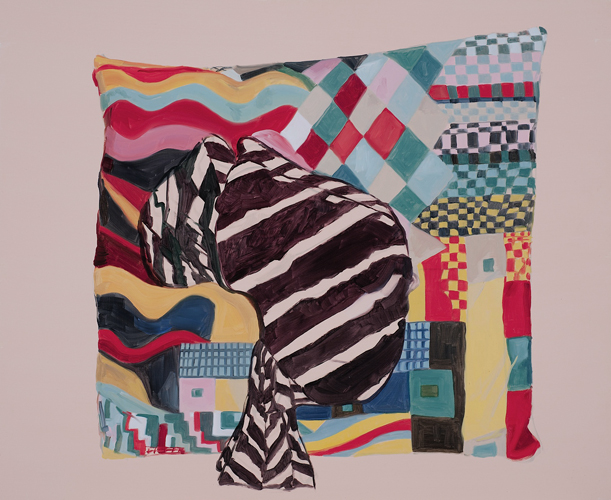 Jess Lucas, Bauhaus Cushion and Scarf, 2011, oil on board, 50 x 60cm